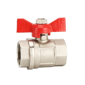 1335 Brass Butterfly Ball Valve
